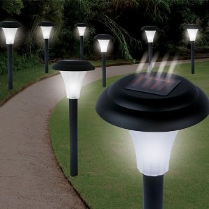 Led lights in garden