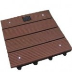 A Linkable Solar Decking Tile with Four Bright White LED Lights