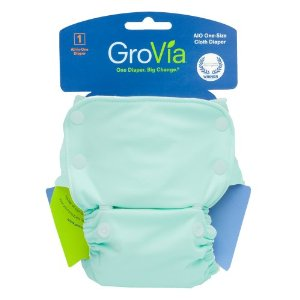 GroVita Organic AIO diaper, light blue