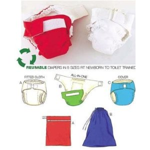 Diaper Cover Insert & Bags Pattern impressions