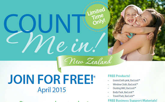 Join Norwex for Free in April 2015 in New Zealand. Free products and business support materials worth over $200