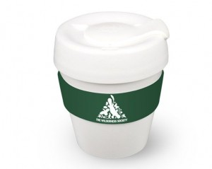 keep cup with The Wilderness Society logo on the band
