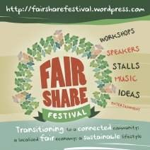 Fair Share Festival: Transitioning to a connected community; a localised fair economy; a sustainable lifestyle