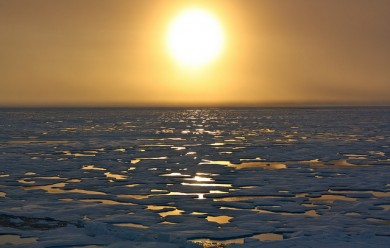 Develop a sustainable community before the arctic melts (photo by NASA)