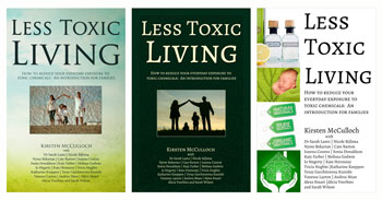 Three front cover options for Living Less Toxic