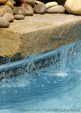 A water fall feature - Natural pools | SustainableSuburbia.net