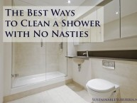 The Best Ways to Clean a Shower with No Nasties | SustainableSuburbia.net