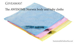 Giveaway! The AWESOME Norwex body and baby cloths | SustainableSuburbia.net