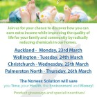 Norwex on Purpose: join us for a chance to discover how you can earn extra income while improving the quality of life for your familyand community by radically reducing chemicals in our homes | Auckland, Wellington, Christchurch, Palmerston North.