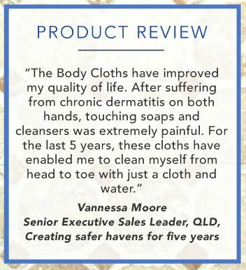 The body cloths have improved my quality of life. After suffering from chronic dermatitis on both hands... - product review by Vanessa Moore | SustainableSuburbia.net