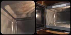 kitchen cloth and water to clean the microwave | SustainableSuburbia.net
