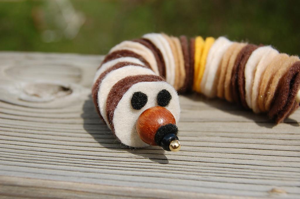 Felt caterpillar