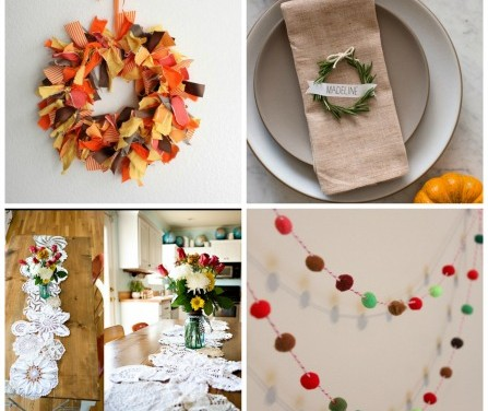 four pictures of Christmas Crafts