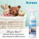 Did you know allergies can be caused by dust mites in stuffed animals? | Norwex Mattress Cleaner | SustainableSuburbia.ne