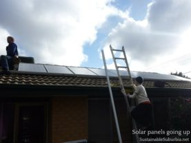 The solar panels going up | SustainableSuburbia.net