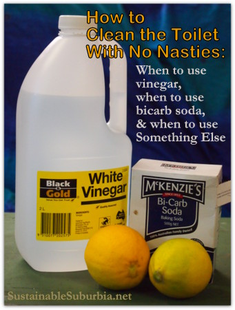 How To Clean The Toilet Should You Use Vinegar Bicarb Soda Or Something Else Sustainable Suburbia